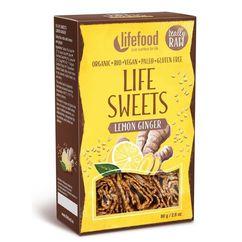 Life sweets rulouri cu lamaie si ghimbir raw bio 80g PROMO
