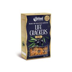 Lifecrackers cu masline raw bio 90g Lifefood