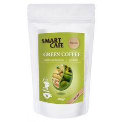Cafea verde macinata decofeinizata cu cardamom bio 200g DS