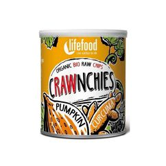 Chips Crawnchies cu dovleac si turmeric raw bio 30g Lifefood