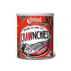 Chips Crawnchies cu boia spicy raw bio 30g Lifefood