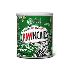 Chips Crawnchies cu spanac si usturoi raw bio 30g Lifefood