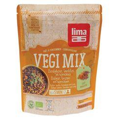 Vegi mix curry, bulgur si linte bio 250g Lima