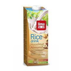 Lapte vegetal de orez cu migdale si alune de padure bio 1L