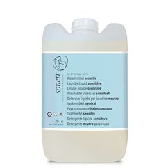 Detergent ecologic pt. rufe albe si colorate, SENSITIVE 20L, Sonett